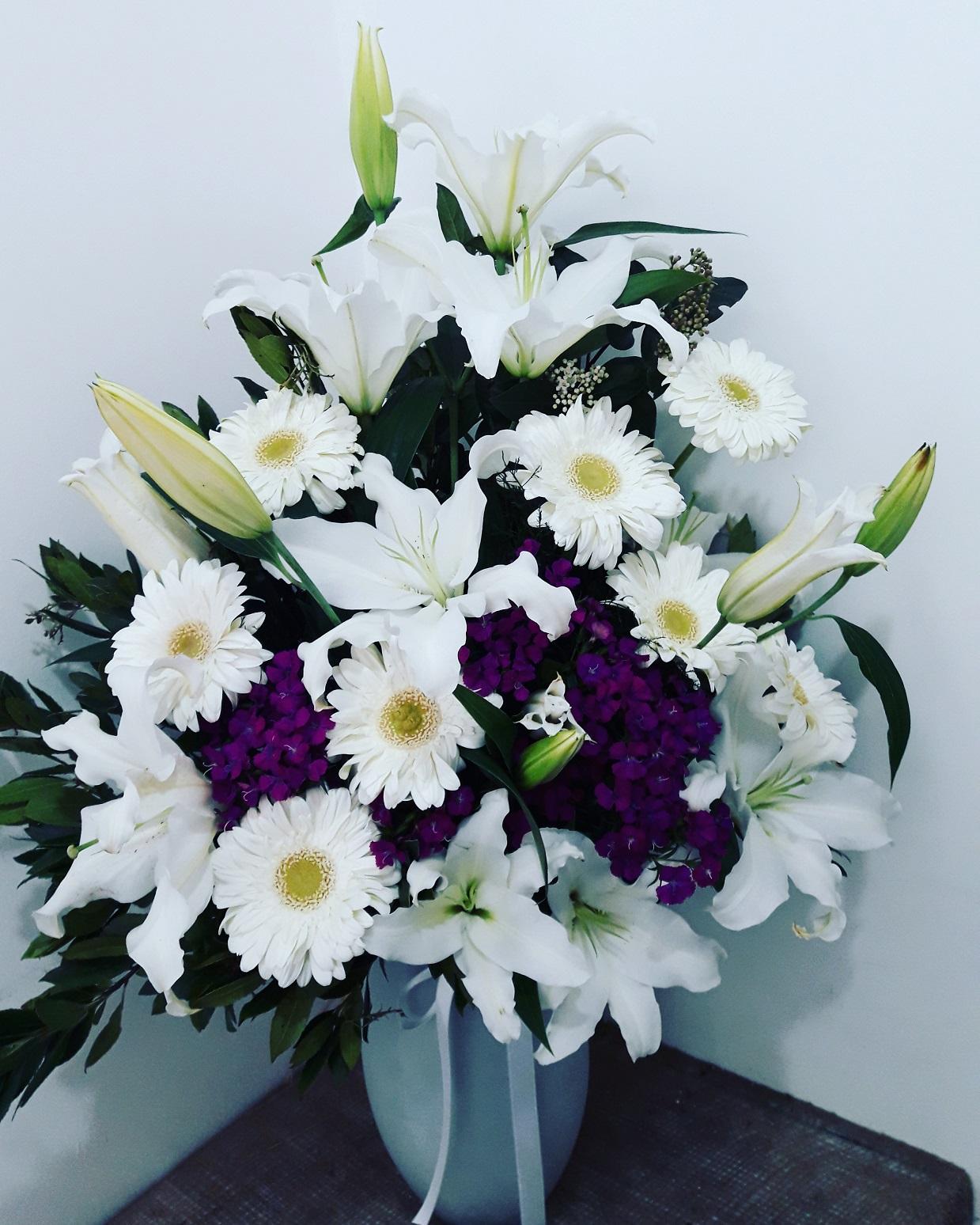 Mor Beyaz Vip Çiçek